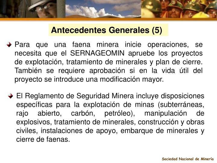 Antecedentes Generales (5)