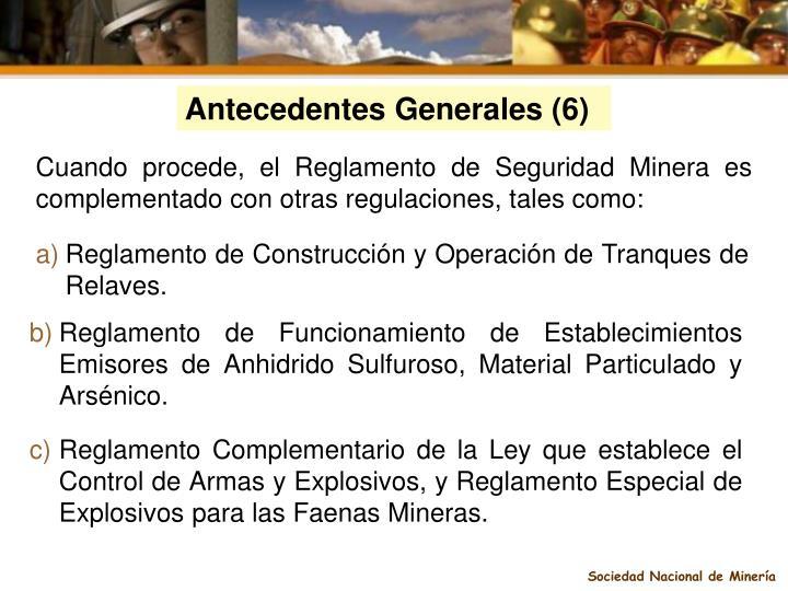 Antecedentes Generales (6)