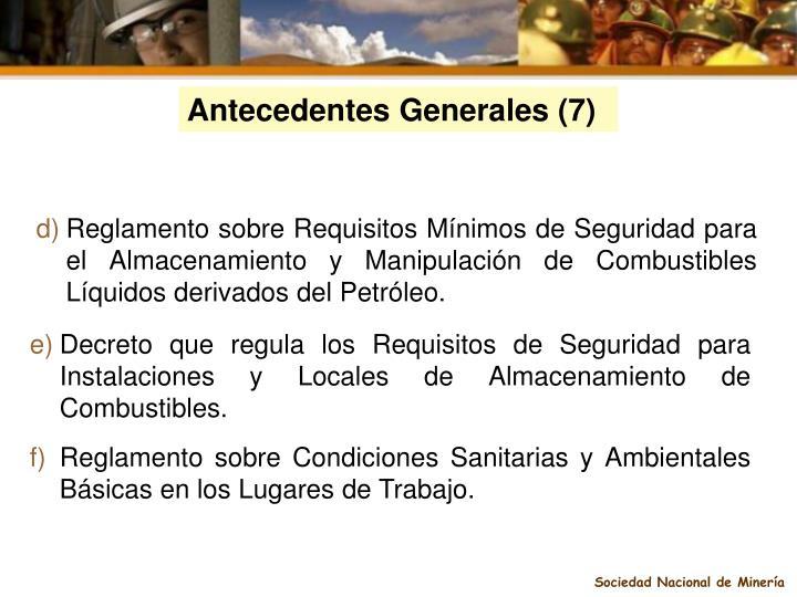 Antecedentes Generales (7)