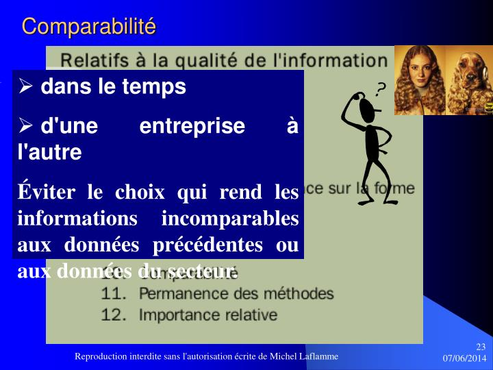 Comparabilité