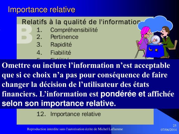 Importance relative