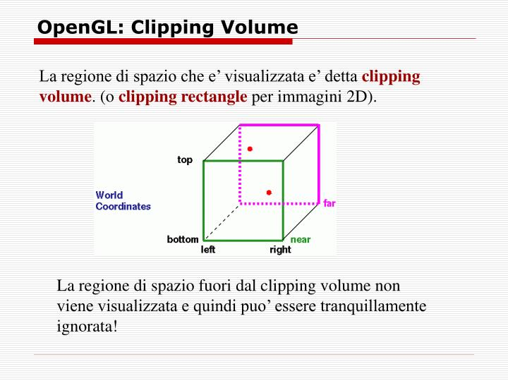 OpenGL: Clipping Volume