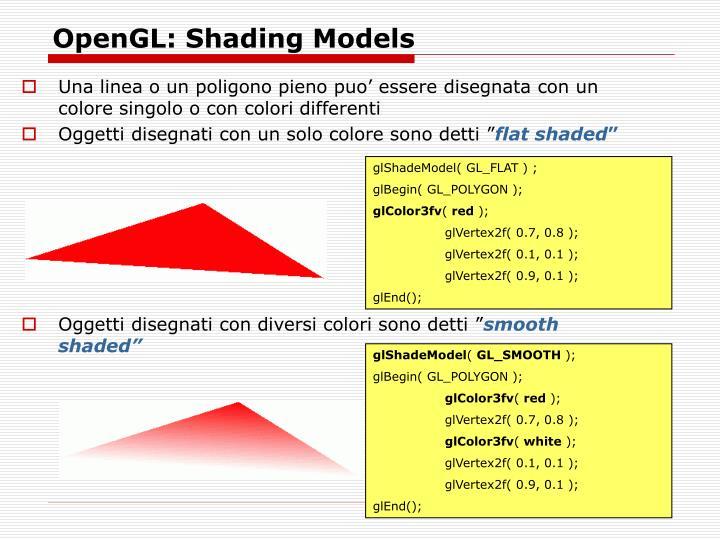 OpenGL: Shading Models