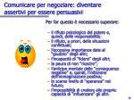 comunicare per negoziare diventare assertivi per essere persuasivi1
