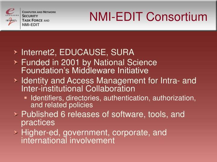 NMI-EDIT Consortium
