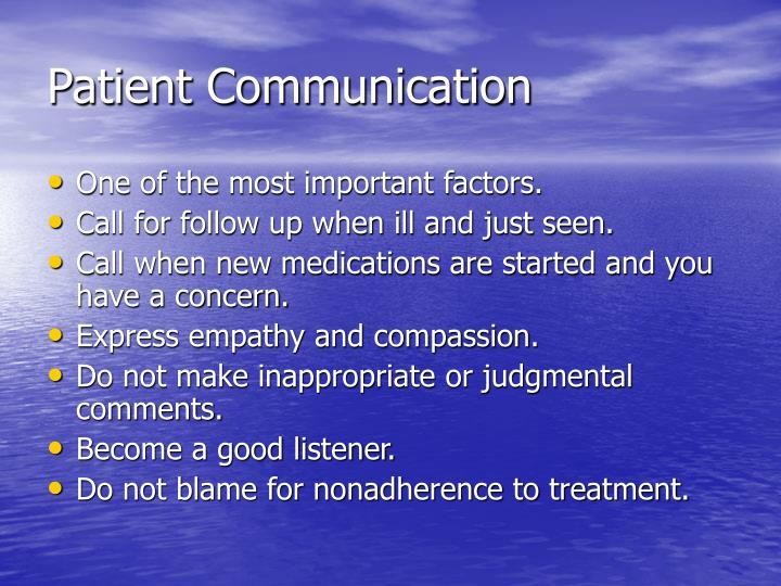 Patient Communication