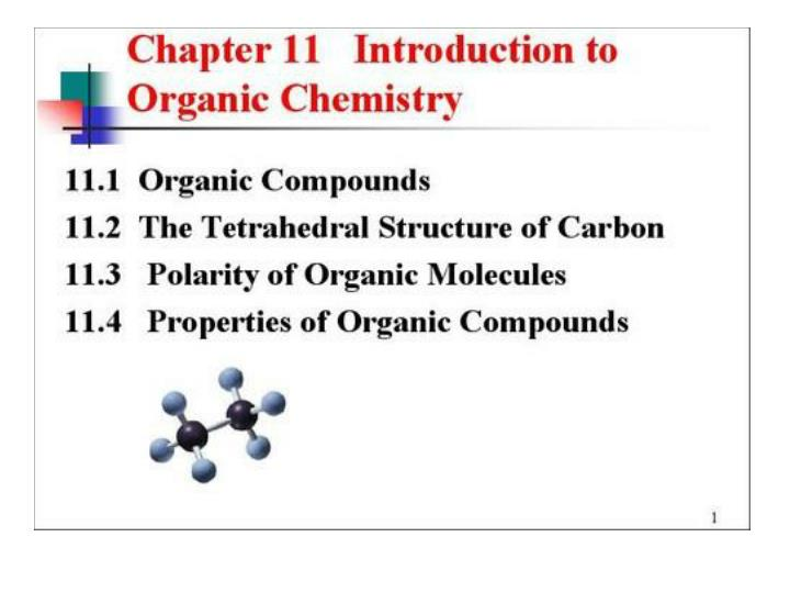 introduction to organic