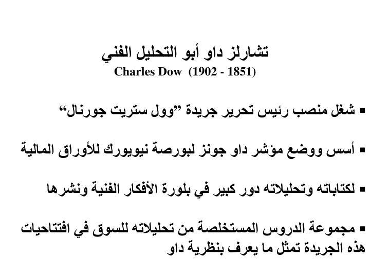 تشارلز داو أبو التحليل الفني