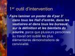 1 er outil d intervention