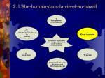 2 l tre humain dans la vie et au travail