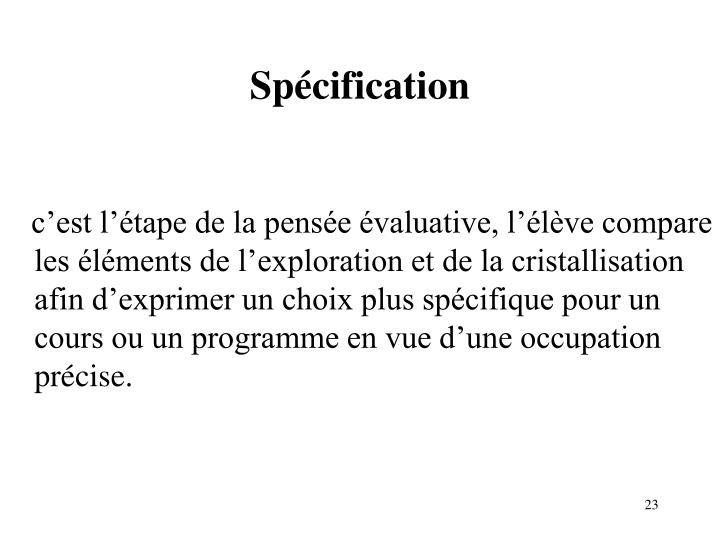 Spécification