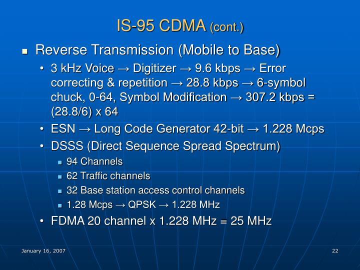 IS-95 CDMA