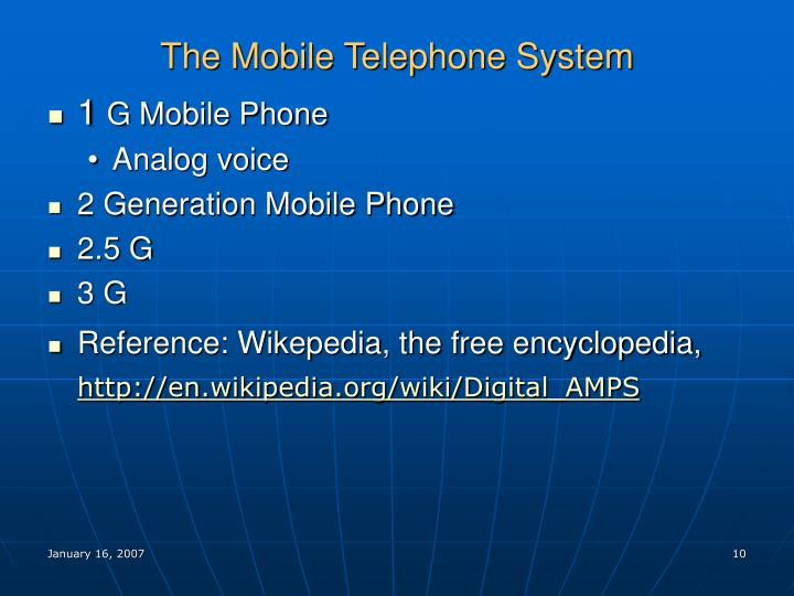 The Mobile Telephone System