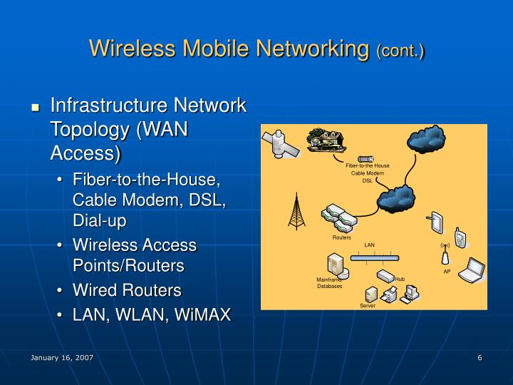 Wireless Mobile Networking