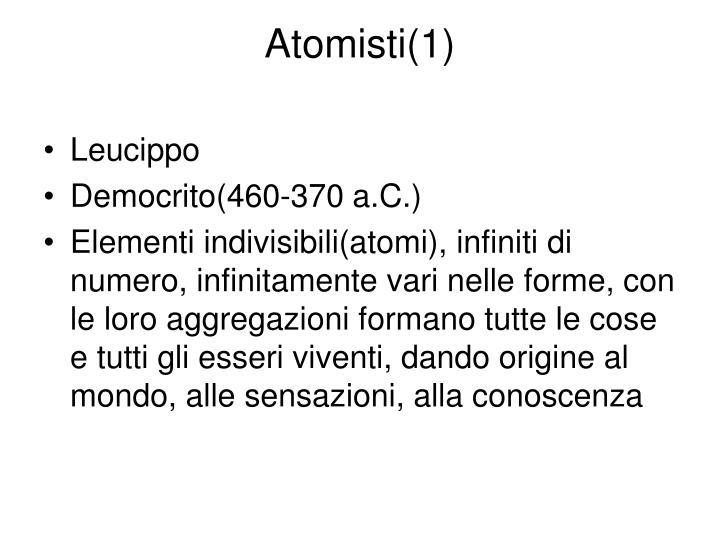 Atomisti(1)
