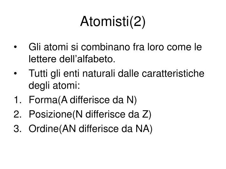Atomisti(2)