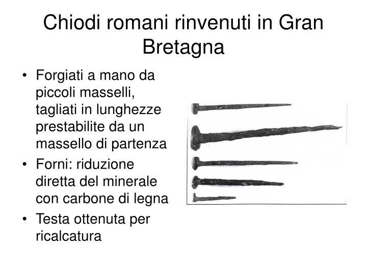 Chiodi romani rinvenuti in Gran Bretagna