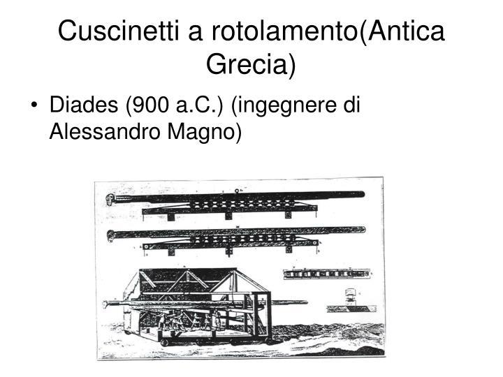 Cuscinetti a rotolamento(Antica Grecia)