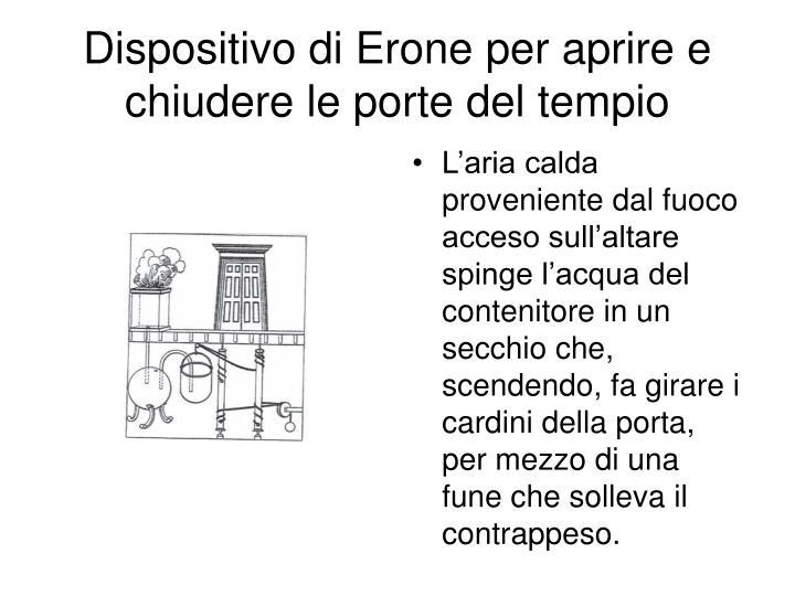 Dispositivo di Erone per aprire e chiudere le porte del tempio