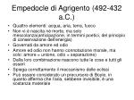 empedocle di agrigento 492 432 a c