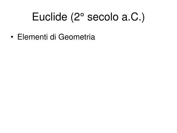 Euclide (2° secolo a.C.)