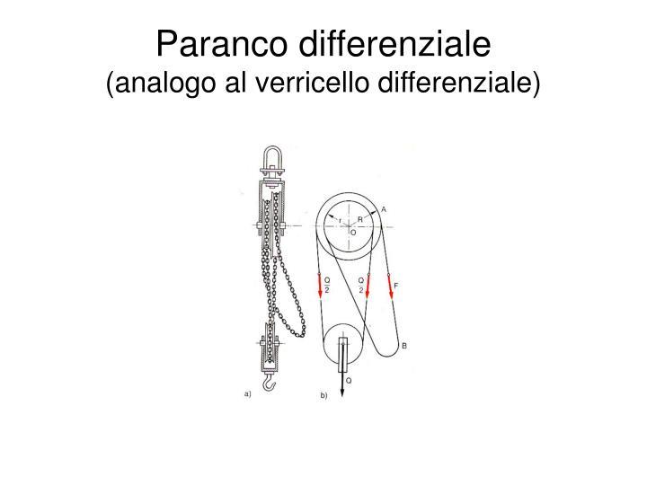 Paranco differenziale