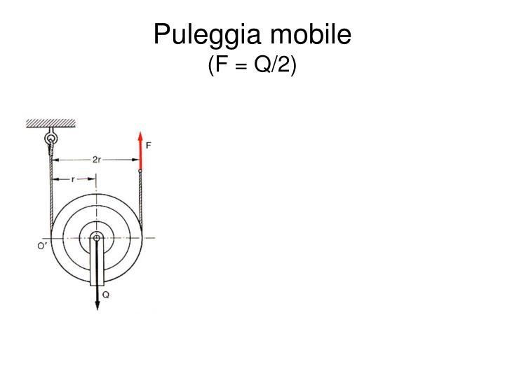 Puleggia mobile
