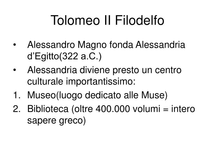 Tolomeo II Filodelfo