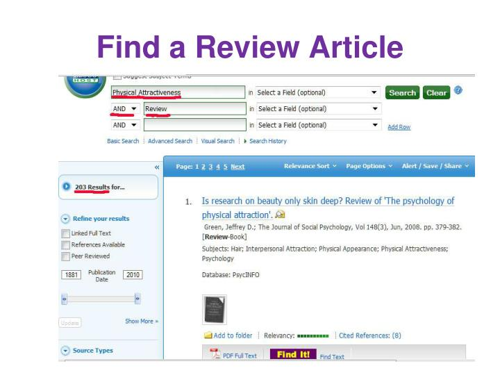 Find a Review Article