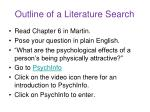 outline of a literature search