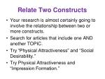 relate two constructs