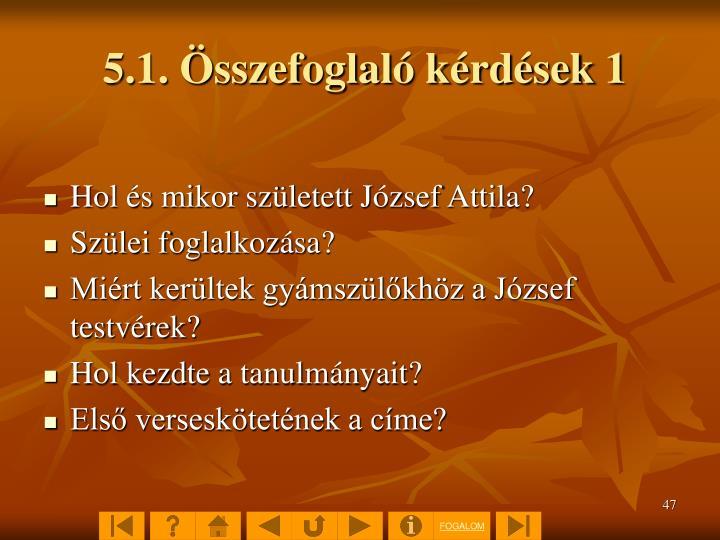 5.1. Összefoglaló kérdések 1