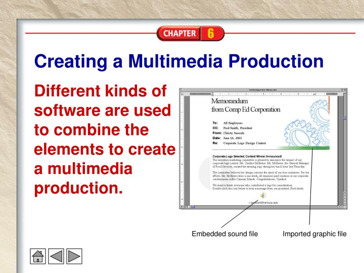 Creating a Multimedia Production