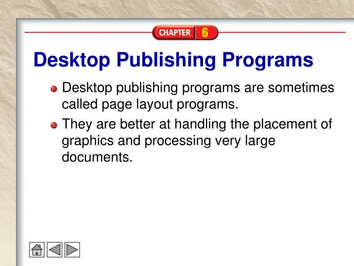 Desktop Publishing Programs