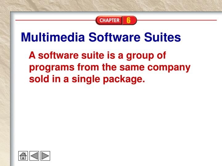 Multimedia Software Suites