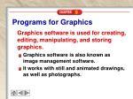 programs for graphics