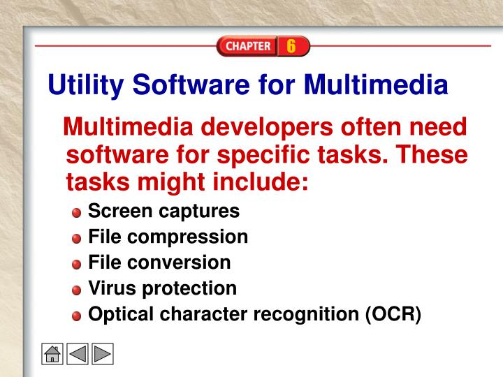 Utility Software for Multimedia