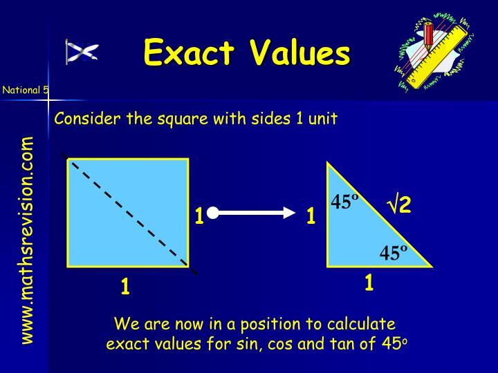 Exact Values
