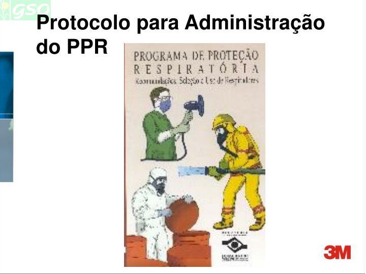 Protocolo para Administração do PPR