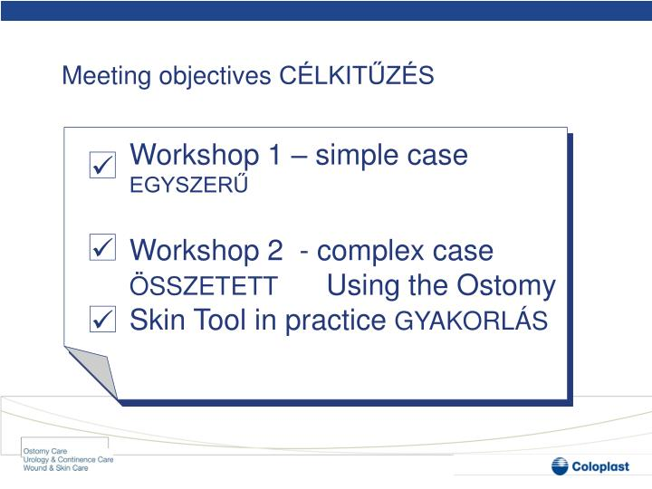 Meeting objectives c lkit z s