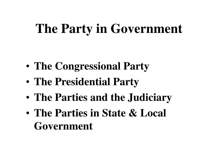 The Party in Government