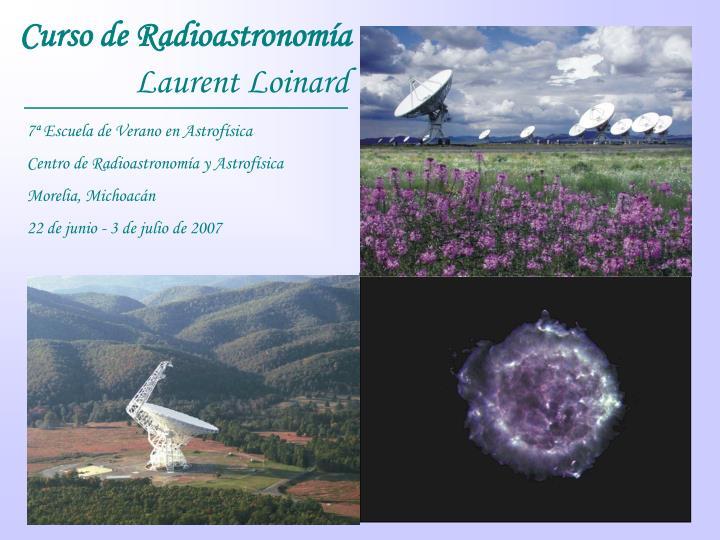 Curso de Radioastronomía