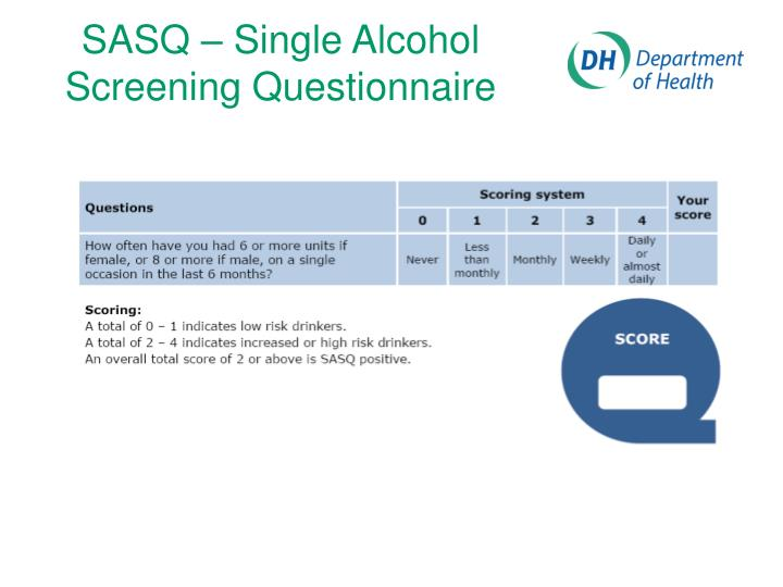 SASQ – Single Alcohol Screening Questionnaire