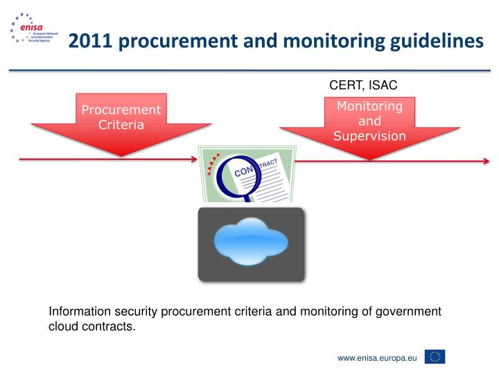 2011 procurement and monitoring guidelines