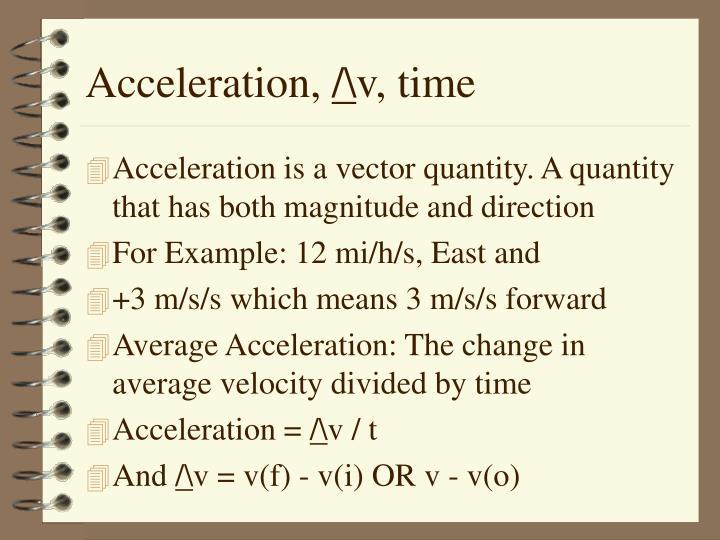 Acceleration,