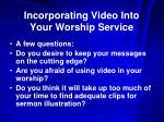 incorporating video into your worship service3