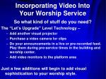 incorporating video into your worship service8