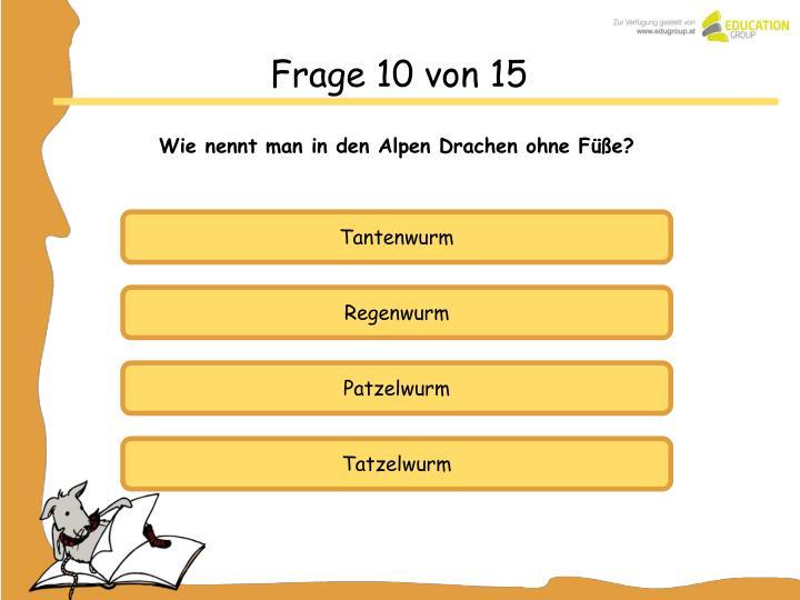 Frage 10 von 15