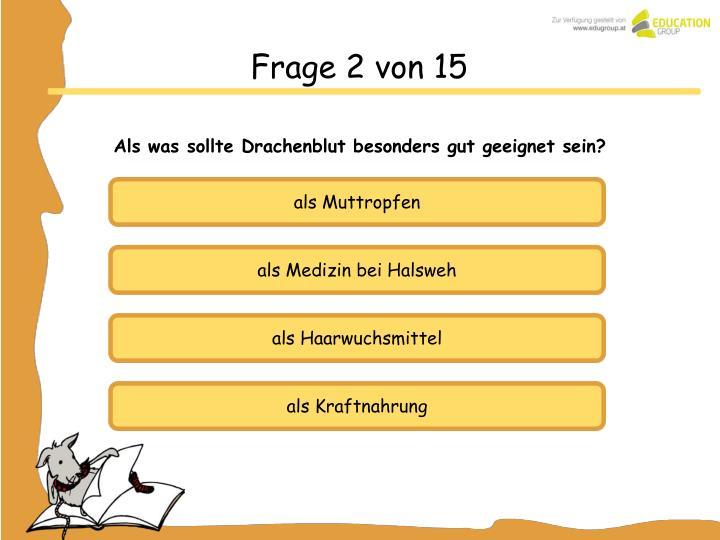 Frage 2 von 15