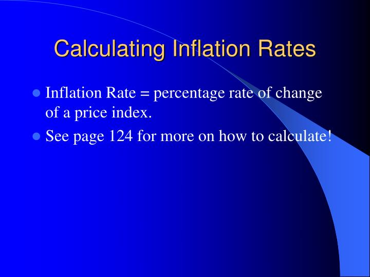 Calculating Inflation Rates